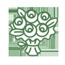 Icono ramo de flores