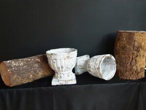 Copas cerámica decorativas.