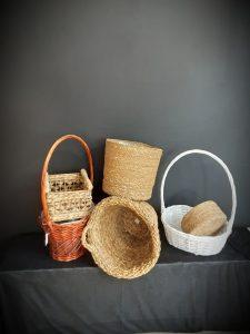 Conjunto de cestas para decorar.