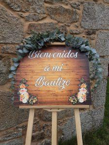 Decoración Bienvenida Bautizo